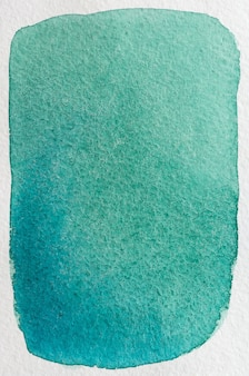 Cyan de mer, bleu, aigue-marine, vert émeraude profond dessiné à la main cadre abstrait aquarelle. espace pour le texte, le lettrage, la copie. modèle de carte postale.