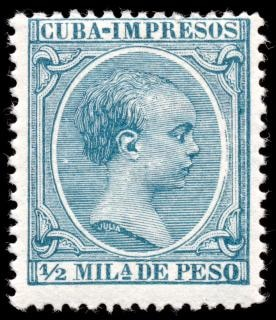 Cyan roi alfonso xiii perforation timbre