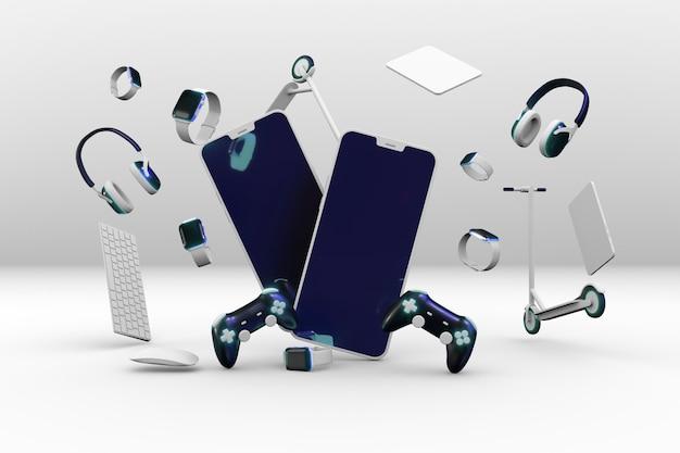 Cyber lundi shopping avec smartphone