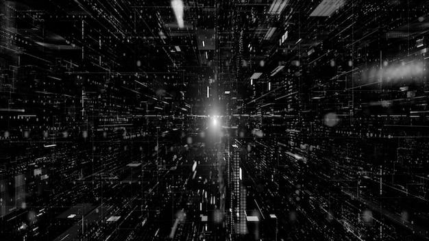 Cyberespace numérique et concept de connexions réseau de données numériques