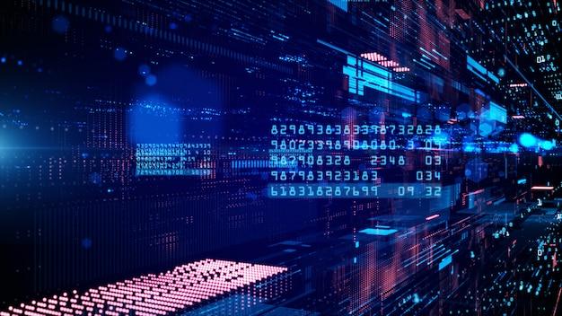 Cyberespace numérique et connexions au réseau de données