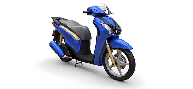 Cyclomoteur bleu urbain moderne