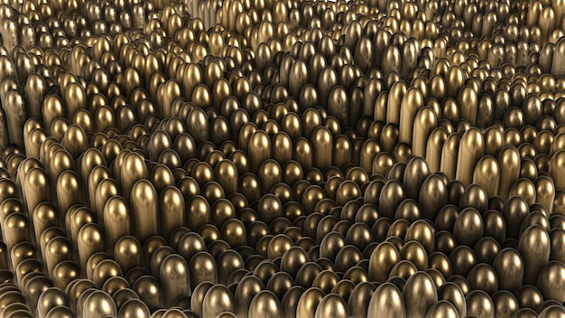De cylindres arrondis en or