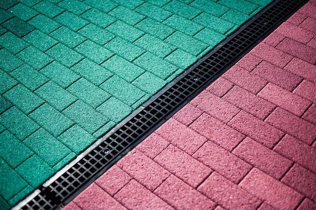Dalles multicolores, murs tuxture
