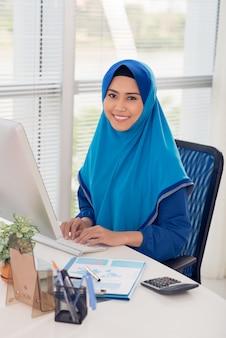 Dame d'affaires musulman