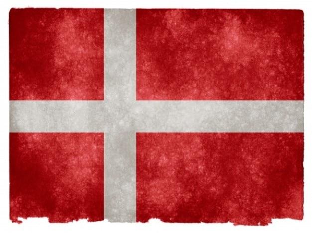 Danemark drapeau grunge