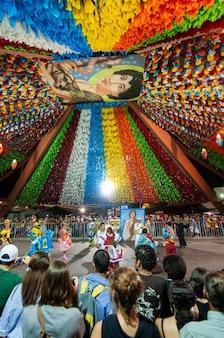 Danse carrée à la fête de saint jean campina grande paraiba brésil le 8 juin 2009