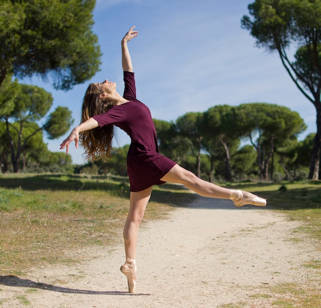 Danseur de ballet faisant une pose concept de mode de vie