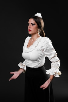 Danseur de flamenca confiant