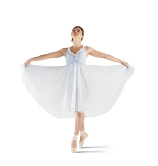 Danseur gracieux posant sur pointe avec tutu