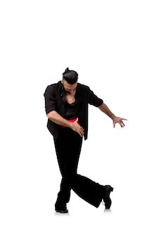 Danseur homme danse danses espagnoles isolées