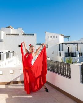 Danseuse de flamenco rouge