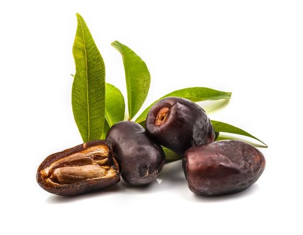 Date fendue séchée (fruit du palmier phoenix dactylifera).