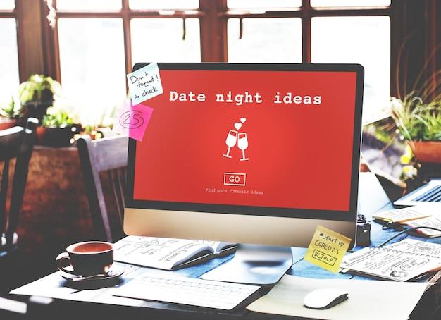 Date nuit idées valantine romance coeur amour passion concept