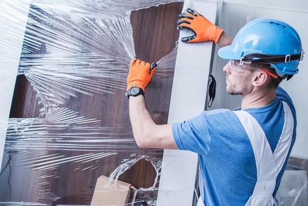 Déballage et installation des portes