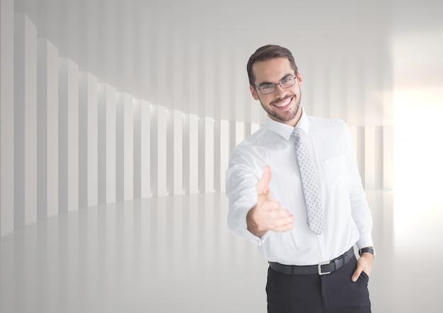 Debout lumière bras de chemise de serviette