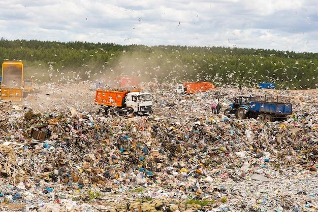 Décharge municipale pour ordures ménagères