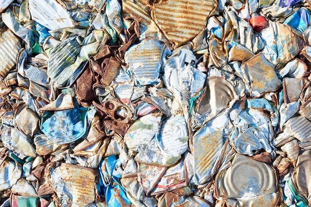 Déchets emballés à l'usine de traitement des déchets
