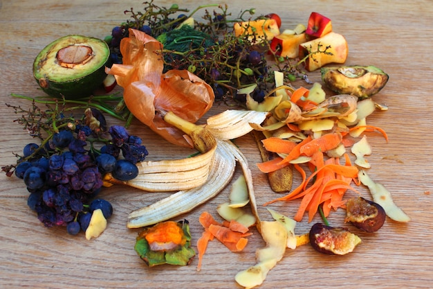 Déchets ménagers pour le compost