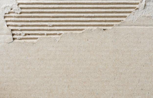 Déchiré texture de carton ondulé