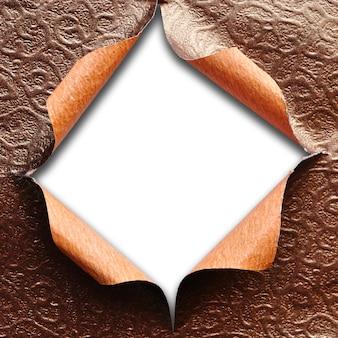 Déchiré texture modèle papier isolé fond blanc