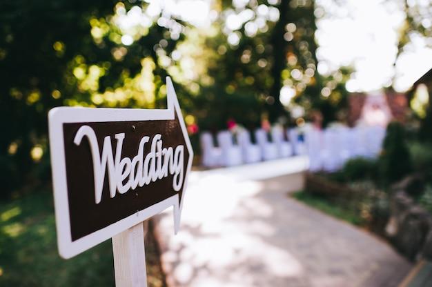 Décor de mariage, pointeur