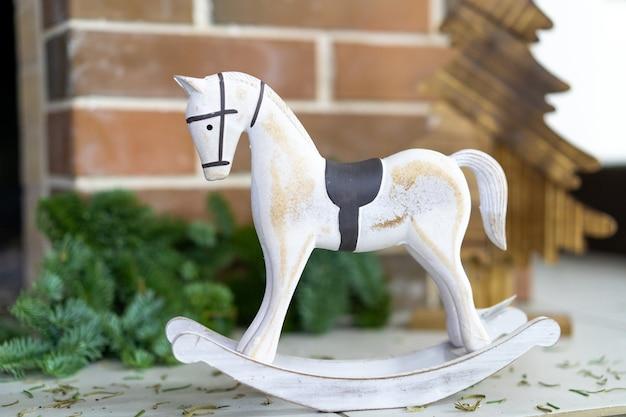 Décor de noël cheval et sapin de noël en bois