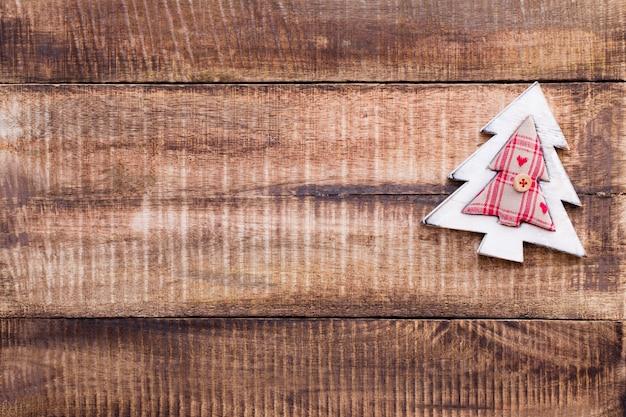 Décor de noël sur le vieux fond en bois vintage.