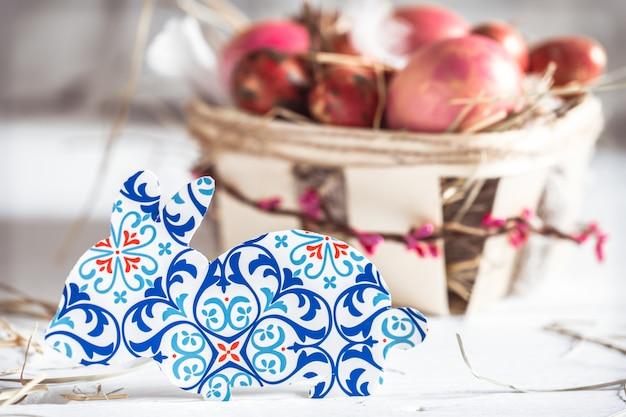 Décor de pâques en papier lapin