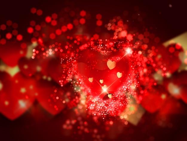 Décoratif fond de coeur pour la st valentin