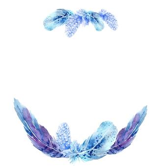 Décoration aquarelle avec plumes