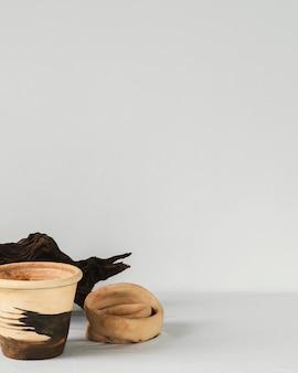 Décoration en bois minimaliste abstraite à l'intérieur