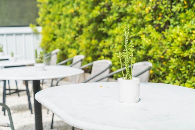Décoration de cactus sur table