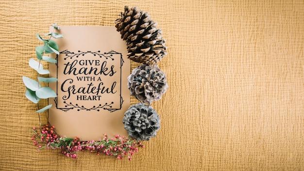 Décoration de carte de thanksgiving