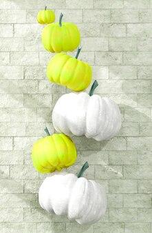 Décoration de citrouilles volantes