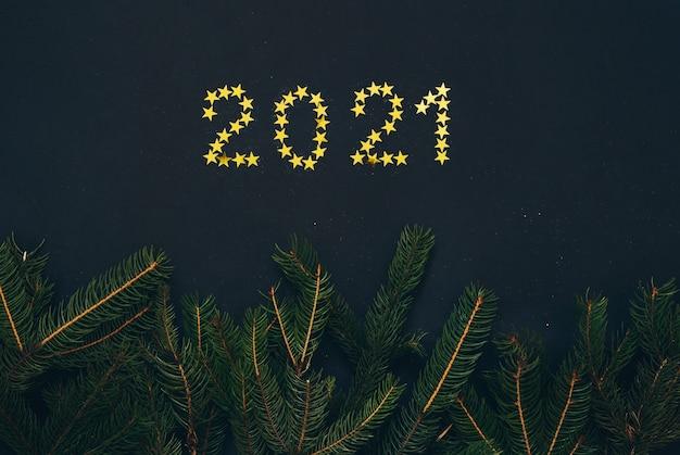 Décoration du nouvel an 2021. carte de voeux