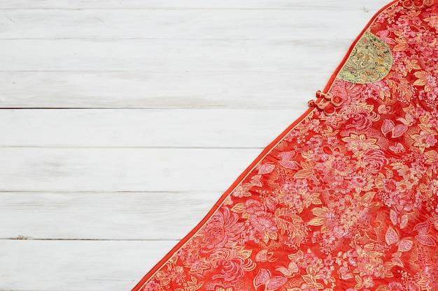 Décoration du nouvel an chinois sur fond rouge