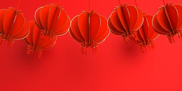 Décoration du nouvel an chinois avec lanterne