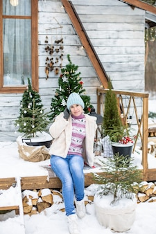 Décoration d'éclairage de nouvel an et de noël. photo de haute qualité