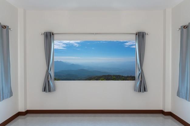 Décoration de fenêtre de rideaux intérieur de la salle brigth