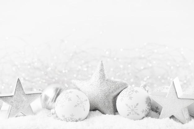 Décoration festive en argent pour sapin de noël
