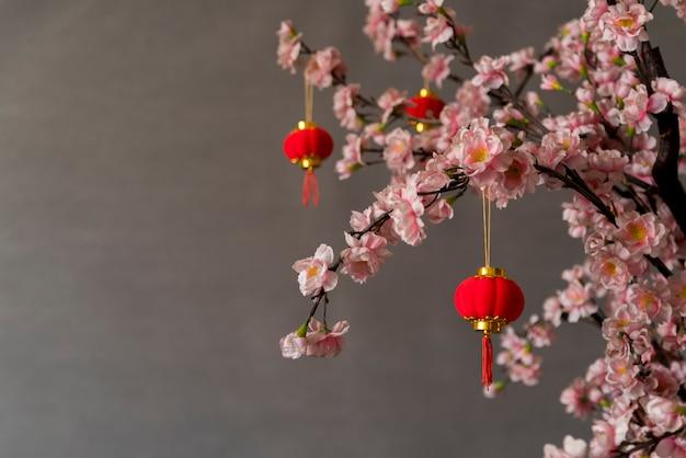 Décoration florale du nouvel an chinois