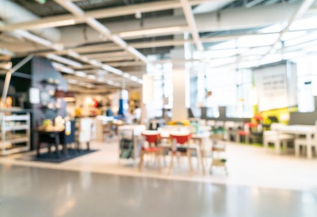 Décoration floue dans le magasin-entrepôt