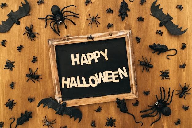 Décoration halloween avec ardoise