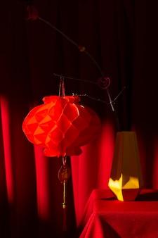 Décoration de lanterne rouge chinoise du nouvel an 2021