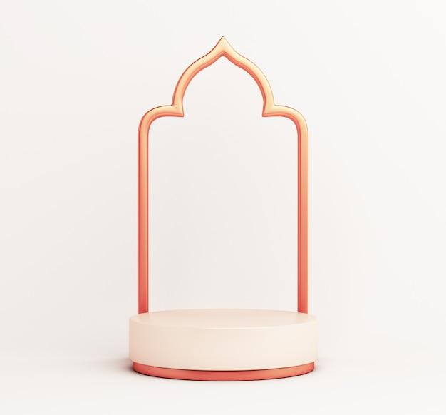 Décoration de maquette d'affichage de podium islamique