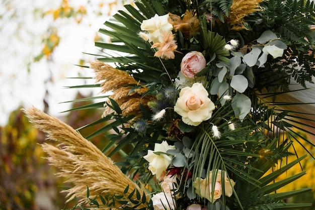 Décoration de mariage de cérémonie de mariage en automne.