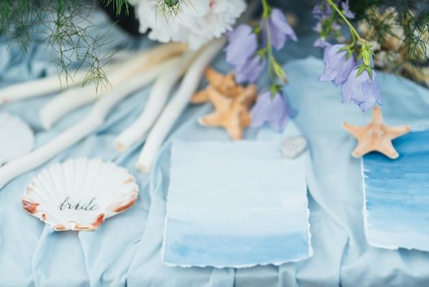 Décoration de mariage étoile de mer et coquillage
