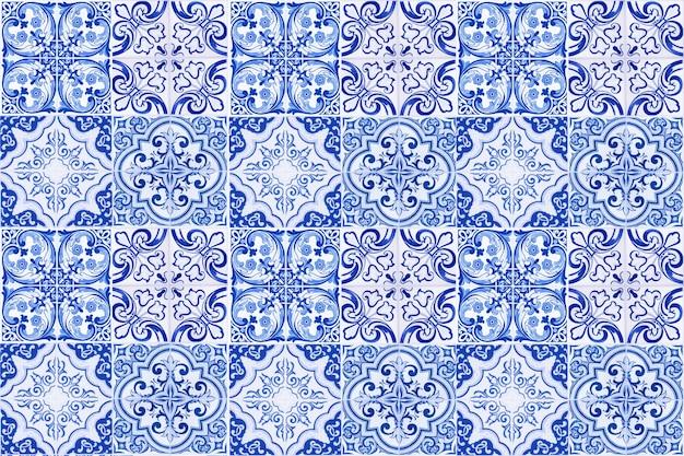 Décoration murale de carreaux de céramique vintage. fond de mur de carreaux de céramique turque