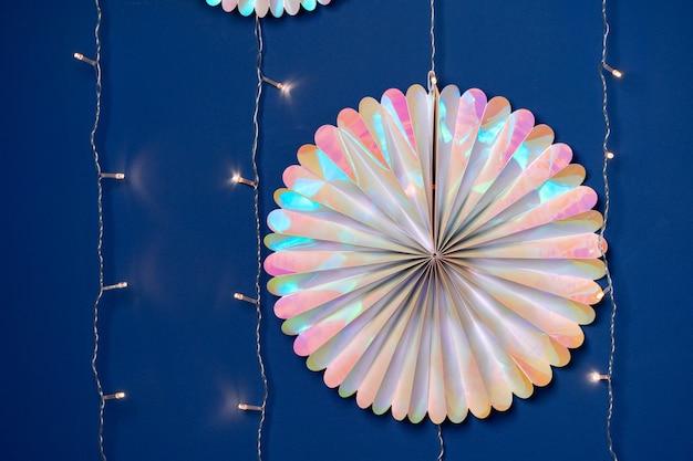 Décoration murale en carton spinner pour fête d'anniversaire bouchent